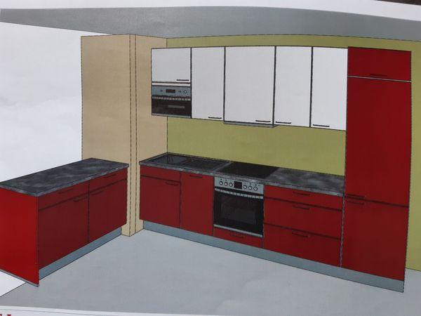 Einbau Küche Inkl. Elektrogeräte, mit Soft Close 2 Jahre alt