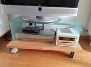 TV Tisch Fernsehtisch mit Glas