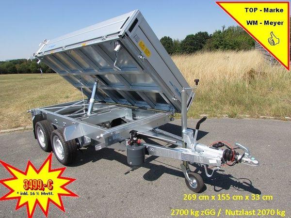 WM-MEYER 2700 kg Dreiseitenkipper HKC