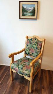Voglauer Stuhl mit Armlehnen Fichte