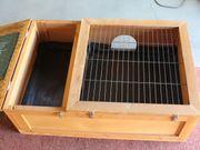 Holz-Gehege für Kleintiere mit Wärmedecke