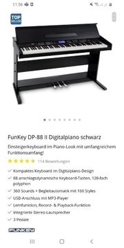 E-Piano Funkey Digital 88 II