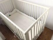 Gitterbett mit Matratze Auflage Nestchen