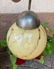 Jugendstil Kugel Lampe Glas marmoriert