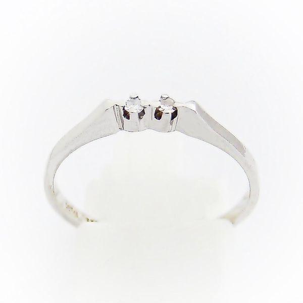 Ring Weißgold 333er Diamanten 8