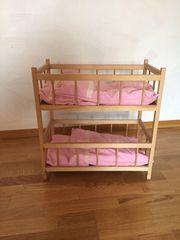 Puppen-Doppelbett