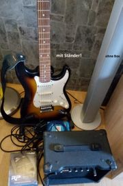 E-Gitarre Effektgerät Ständer Saiten Combo