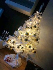 150cm PVC Weihnachtsbaum Tannenbaum weiß
