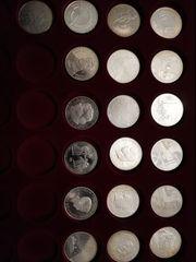 19 Silber Münzen 10 Eur