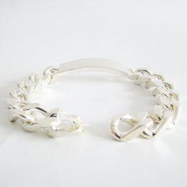 Schmuck, Brillen, Edelmetalle - Armband Silber 800er ID Armband