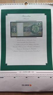 Historischen Jahreskalender mit originalen Banknoten