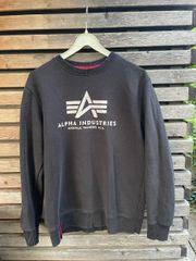 Alpha Industries Pullover schwarz