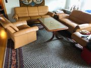 Ledercouch Sofa 3er Set