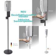 Desinfektionsmittelständer mit Sensorspender made in