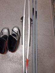 Langlaufski 193cm Salmon Stöcke Schuhe