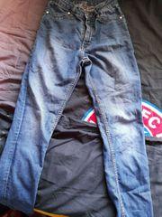 Jeans getragen