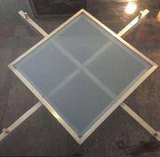 Couchtisch Edelstahlgestell Sicherheits-Glasplatte