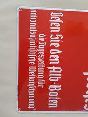 Emaille-Schild Im Alb Bot stoht