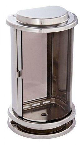 Bild 4 - Grablaterne Edelstahl matt Grablampe Grablicht - Mahlberg Orschweier
