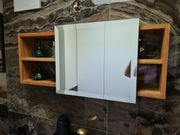 Spiegelschrank Regal aus massivem Teakholz