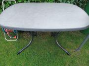 Gartentisch oval klappbar Platte leicht