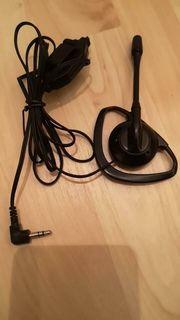 Amateurfunk Ohrhörer-Mikrofon-Kombination mit PTT 3