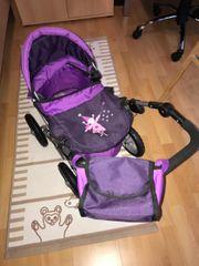 Puppen Kinderwagen lila
