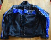 Sommer Textil-Motorradblouson schwarz blau Größe