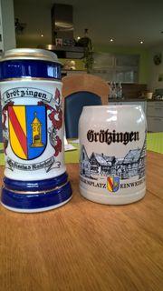 2 x Grötzingen Bier Krug