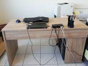Schreibtisch Eiche-Nachbildung inkl Regal