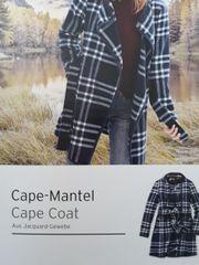 Neuer Cape Mantel Coat größe