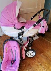 Pinker Kinderwagen