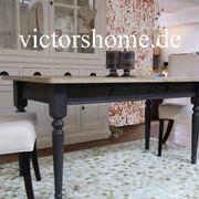 Esstisch Küchentisch schwarz Landhaustisch 160x80