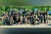 Saxophonist in von Blasorchester BOA