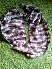 Schal Fleece breit braun gemustert