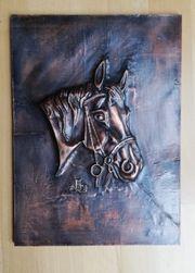 Bild mit Pferdekopf Kupfer
