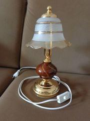 Leuchte Tischleuchte Lampe Tischlampe Glasschirm