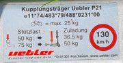 Fahrradträger für Anhängerkupplung - Uebler P