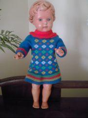 alte Schildkrötpuppe Puppe 50er Jahre