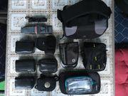 Diverse Foto-Taschen verschiedener Größen
