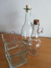 Glas Deko zusammen