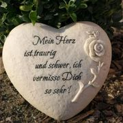 Urnengrab Dekoration mit Trauerspruch Mein