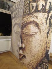 Flächenvorhang - Motiv Budda 2 Stück