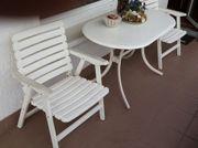 Garten- Balkonmöbel Tisch 4 Stühle