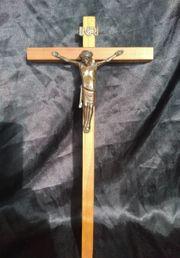 Kreuz Kruzifix Holzkreuz mit Bronze