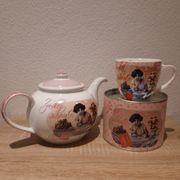 ppd Teekanne und Tasse Zuckerschnute