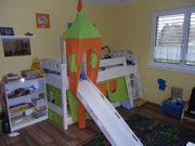 Hochbett Hochbett mit Rutsche Kinderbett