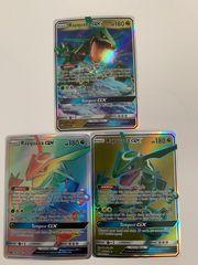Pokemon karte 3xRayquaza GX als