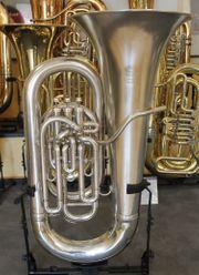 Besson Es - Tuba kompensiert versilbert
