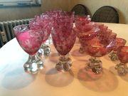 Murano Glas Set - Weinglas Likörglas